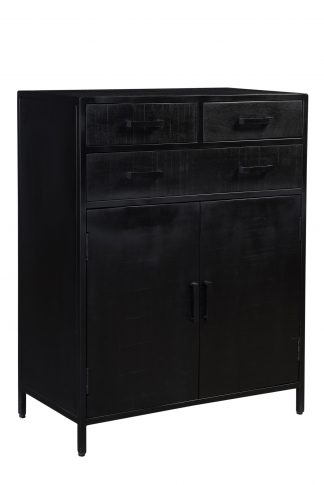 zwarte industriële kast SID - Kala 85 cm